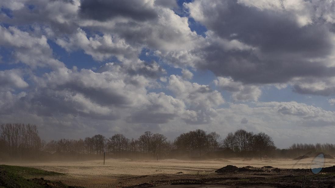 Hoogland-West plaatjes zandverstuiving.