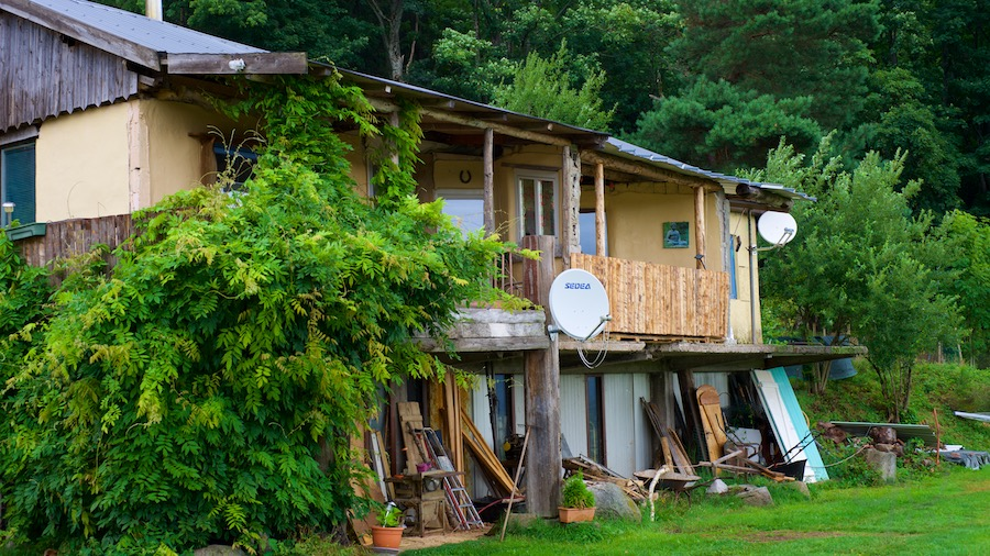 Vakantieverhaal in Frankrijk - receptiegebouw van de camping