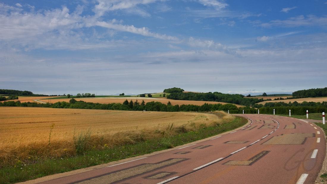 Vakantieverhaal in Frankrijk - Goudgele graanvelden